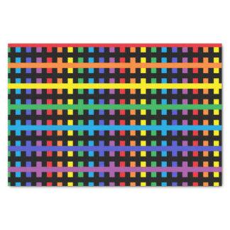 Papel De Seda Arco-íris abstrato e preto