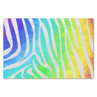 Papel De Seda Arco-íris da zebra e impressão branco