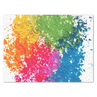 Papel De Seda Arco-íris do pó da cor