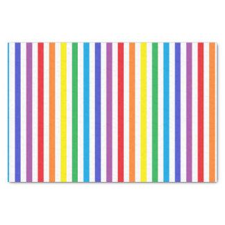 Papel De Seda Arco-íris vertical e listras brancas