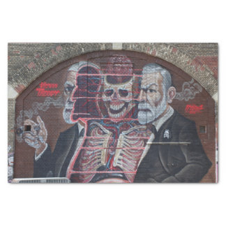 Papel De Seda Arte da rua de Sigmund Freud