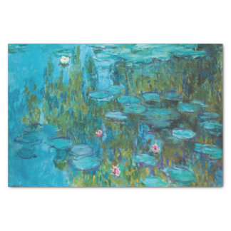 Papel De Seda Arte de Nymphéas GalleryHD dos lírios de água de