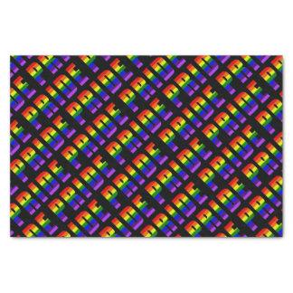 Papel De Seda Arte do texto do orgulho do arco-íris na cor preta