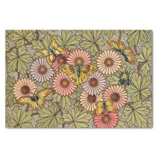 Papel De Seda Arte floral da borboleta do mosaico do estilo do