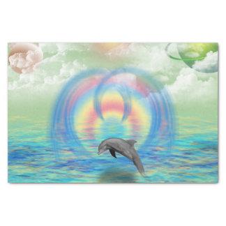 Papel De Seda Ascensão do golfinho