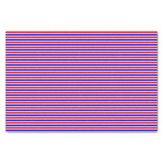 Papel De Seda Azul branco vermelho listrado