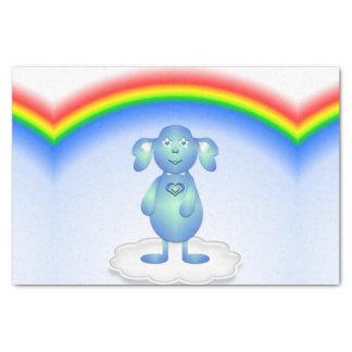 Papel De Seda Azul de bebê e o arco-íris