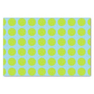 Papel De Seda Azul Pastel das bolinhas do verde limão