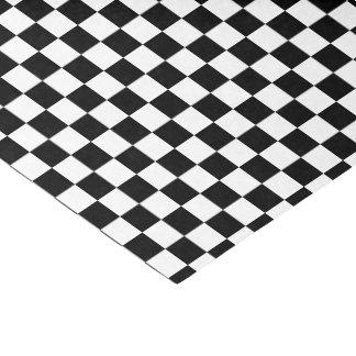Papel De Seda azulejos Checkered do preto da cor da U-picareta