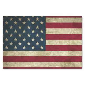 Papel De Seda Bandeira americana do Grunge