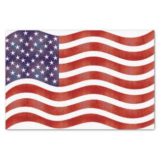 Papel De Seda Bandeira americana ondulada, EUA