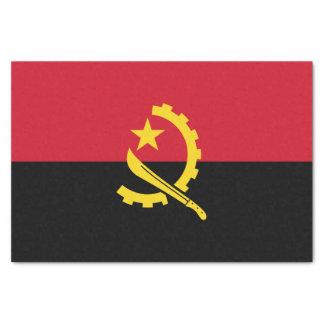 Papel De Seda Bandeira angolana patriótica