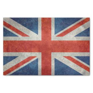 Papel De Seda Bandeira BRITÂNICA de Union Jack em texturas