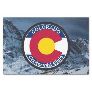 Papel De Seda Bandeira da circular de Colorado
