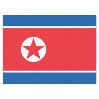 Papel De Seda Bandeira da Coreia do Norte