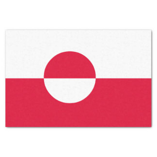 Papel De Seda Bandeira de Greenland