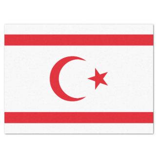 Papel De Seda Bandeira do norte de Chipre