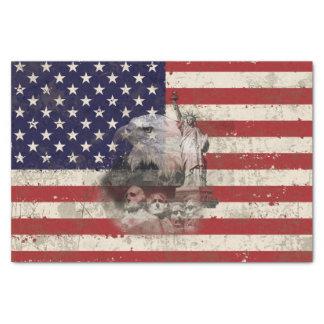 Papel De Seda Bandeira e símbolos dos Estados Unidos ID155