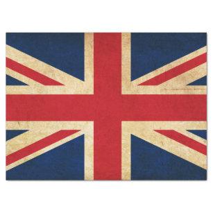 56b02ccf2f Papel De Seda Bandeira velha Union Jack de Reino Unido do Grunge