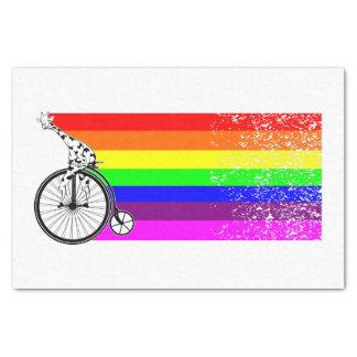 Papel De Seda Bicicleta do arco-íris do girafa