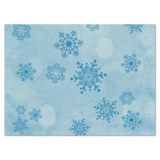 Papel De Seda Bokeh do inverno, azul