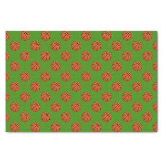 Papel De Seda Bolas do basquetebol de Brown em verde-maçã