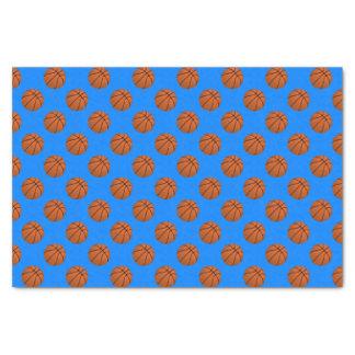 Papel De Seda Bolas do basquetebol de Brown no azul Azure