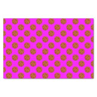 Papel De Seda Bolas do basquetebol de Brown no rosa