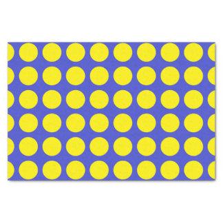 Papel De Seda Bolinhas amarelas azuis