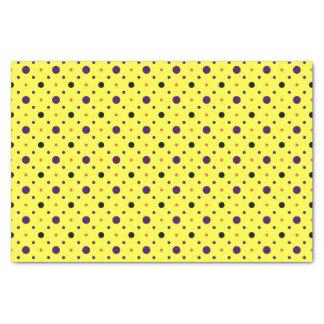 Papel De Seda Bolinhas amarelas & de tamanhos diferentes
