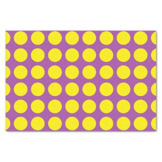 Papel De Seda Bolinhas amarelas roxas