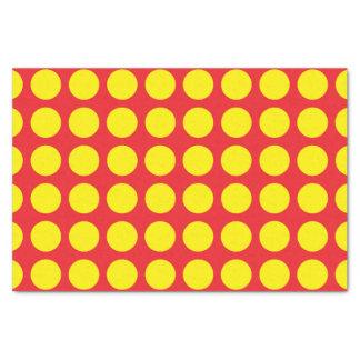 Papel De Seda Bolinhas amarelas vermelhas