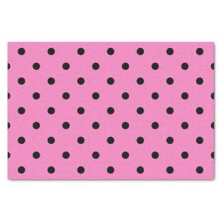 Papel De Seda Bolinhas cor-de-rosa e pretas