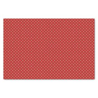 Papel De Seda Bolinhas esbranquiçados no vermelho