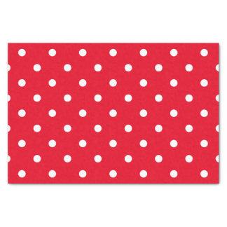 Papel De Seda Bolinhas vermelhas e brancas