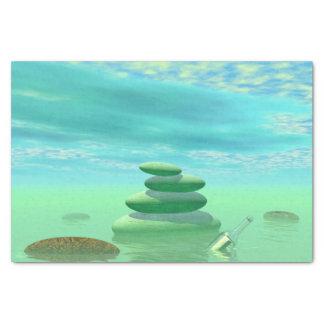 Papel De Seda Borboletas em vôo em uma paisagem do zen