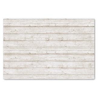 Papel De Seda Branco rústico a madeira pintada embarca o