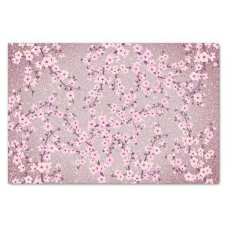 Papel De Seda Brilho malva das flores de cerejeira florais