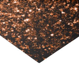 Papel De Seda Brown alaranjado de bronze bonito brilha sparkles