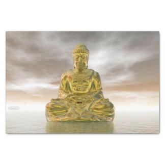 Papel De Seda Buddha dourado - 3D rendem