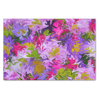 Papel De Seda Buquê do design floral da arte abstracta das cores