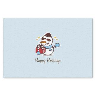 Papel De Seda Caixa de presente do boneco de neve