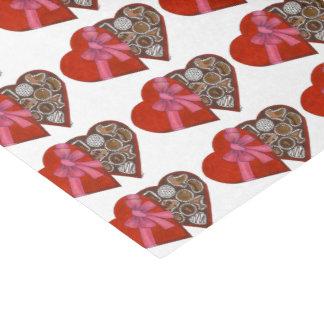 Papel De Seda Caixa vermelha do coração de NYC do tecido dos