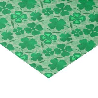 Papel De Seda Campo verde do trevo, quatro trevos da folha,