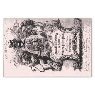 Papel De Seda Cartão de visita de comércio do século XVIII