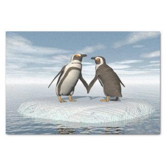 Papel De Seda Casal dos pinguins