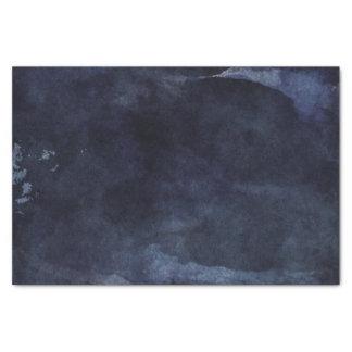 Papel De Seda Casamento moderno da aguarela dos azuis marinhos