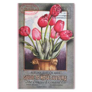 """Papel De Seda Catálogo 10"""" das tulipas e dos rosas X 15"""" lenço"""