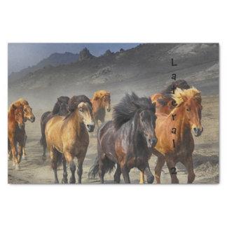 Papel De Seda Cavalos selvagens