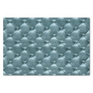 Papel De Seda Cerceta de couro adornada metálica azul aquática